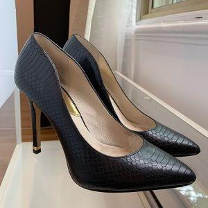 Michael Kors - Black Snakeskin Leather Stilettos